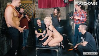 FORBONDAGE – Argentinian Big Ass Babe Blondie Fesser Tries BDSM Group Sex With Ramon Nomar