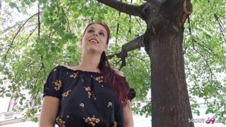 GERMAN SCOUT – SHY REDHEAD NATURAL COLLEGE TEEN SEDUCE TO FUCK AT PICKUP CASTING